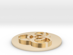 [1DAY_1CAD] BIOHAZARD in 14k Gold Plated Brass