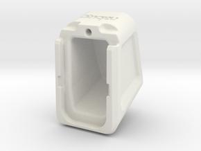 Glock mag extension - custom logo in White Natural Versatile Plastic