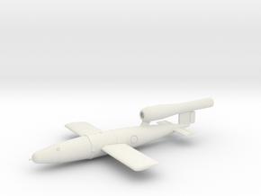 1/72 V1 Flying Bomb in White Natural Versatile Plastic