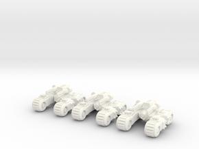 6mm - Rail Gun Spine tank in White Processed Versatile Plastic