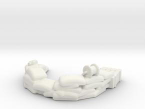 Sandbag Emplacement 1/87 in White Natural Versatile Plastic