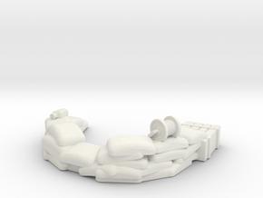 Sandbag Emplacement 1/56 in White Natural Versatile Plastic