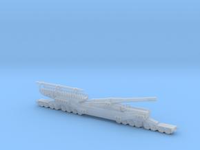 1/200 tm 3 12 railway artillery 305mm ussr russian in Smooth Fine Detail Plastic