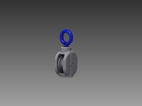Single Pulley block 1/48 in Smooth Fine Detail Plastic