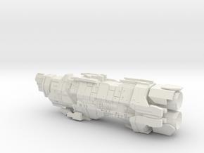 Marathon Class Heavy Cruiser in White Natural Versatile Plastic