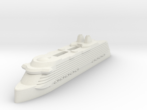 Miniature Celebrity Edge (Modified) V2 - 8.8cm in White Natural Versatile Plastic