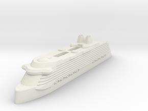 Miniature Celebrity Edge (Modified) V2 - 8.8cm in White Natural Versatile Plastic