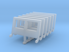 Jeep windshield (x6) 1/87 in Smooth Fine Detail Plastic