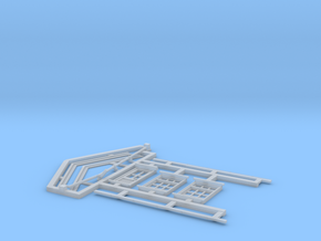 HO Gilmore Signal Box Detail Parts in Smooth Fine Detail Plastic