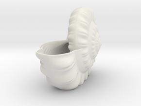 Shell Planter in White Natural Versatile Plastic