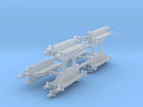 AIM-9X Sidewinder 3-Rack in Smooth Fine Detail Plastic