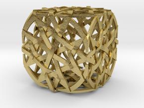 The Quantum Cube in Natural Brass