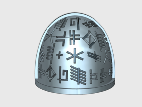 10x Neptune Runes (Etched) - G:4a Shoulder Pads in Smooth Fine Detail Plastic