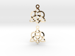 Infinity Love Earrings in 14K Yellow Gold