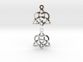 Infinity Love Earrings in Polished Silver