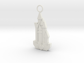 Cute Cosplay Charm - Fairytale Castle in White Natural Versatile Plastic