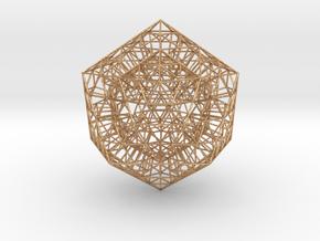 Sierpinski Icosahedral Prism in Natural Bronze