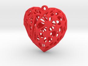 Broken Heart Earring (Medium01) in Red Processed Versatile Plastic