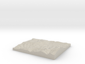 Model of Zuberec in Natural Sandstone