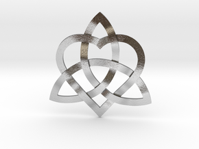 """Infinity Love pendant 1.5"""" in Natural Silver"""