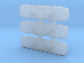 1/87 Light Bars for the generic chassis in Smooth Fine Detail Plastic