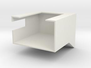 Air Sampling Fixture in White Natural Versatile Plastic