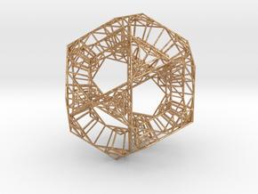 Sierpinski Dodecahedral Prism in Natural Bronze