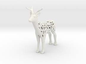 Deer_voronoi in White Natural Versatile Plastic
