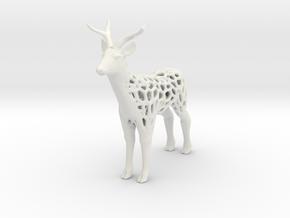 Deer_voronoi in White Natural Versatile Plastic