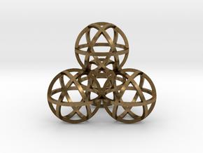 Sphere Tetrahedron 2 in Raw Bronze