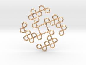 Knots Tetraskelion in Natural Bronze