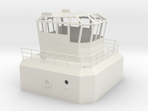 1/24 YTB Tugboat Pilot House in White Natural Versatile Plastic