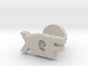 XOF cufflinks in Natural Sandstone