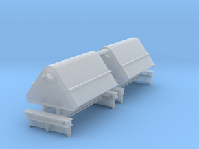 2x N Gauge Hudson Tipping Wagons in Smooth Fine Detail Plastic: 1:148