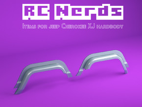 RCN220 Rear wheel arches for Team Raffe Jeep XJ in White Natural Versatile Plastic