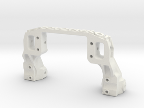 TRX-4 V2 servo on axle mount and 4-link adapter in White Natural Versatile Plastic