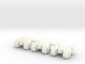 6mm - Quad Spine in White Processed Versatile Plastic