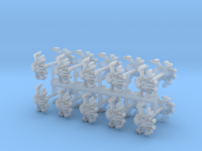 Commission 100 Shoulder Pad icons in Smooth Fine Detail Plastic