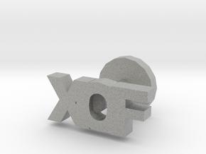 XOF cufflinks in Metallic Plastic