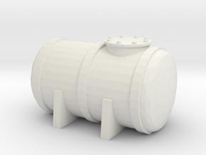 Petrol Tank 1/87 in White Natural Versatile Plastic