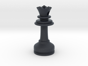 MILOSAURUS Jewelry Staunton Chess Queen Pendant in Black PA12