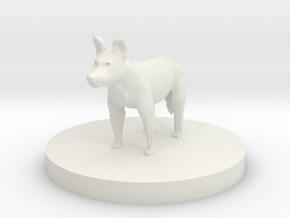 Dog - Wild Dog in White Natural Versatile Plastic