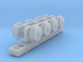 LoriotW_Girders_TunnelWheels in Smoothest Fine Detail Plastic