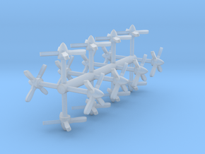 P-3 Orion Propellers 1:500 in Smooth Fine Detail Plastic