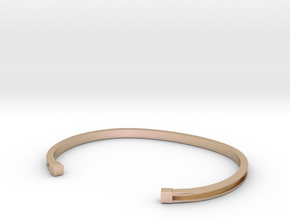 mens bracelet in 14k Rose Gold Plated Brass