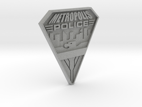 Replica Metropolis PD badge in Metallic Plastic
