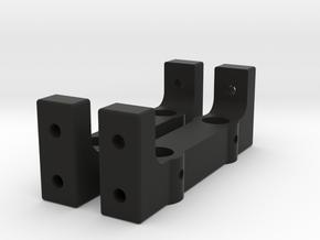 Traction hobby bumper mount in Black Natural Versatile Plastic