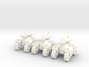 6mm - Microwave Assault Tank in White Processed Versatile Plastic