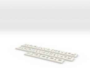 1:10 scale Dodge power wagon lettering in White Natural Versatile Plastic