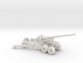1/48 US 155mm Long Tom Cannon Open Fire Position in White Natural Versatile Plastic